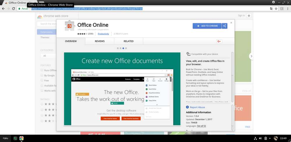 google chrome, extensii chrome, office online