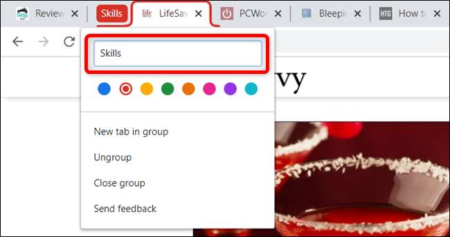 tab groups, google chrome