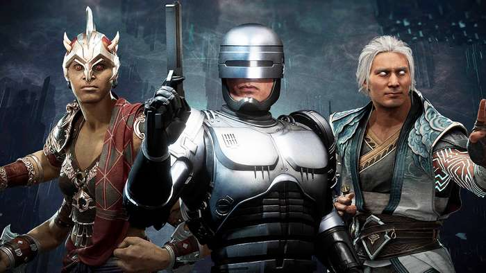 mortal kombat 11 aftermath, robocop, friendship