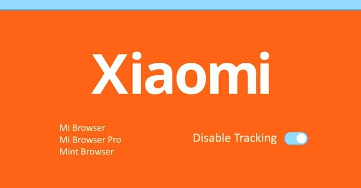 xiaomi, disable tracking