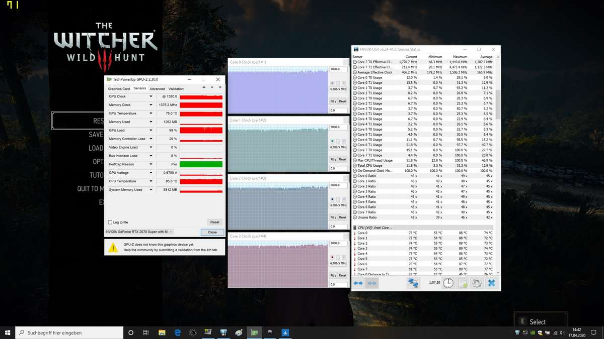 Core i7-10875H, Core i9-10980HK