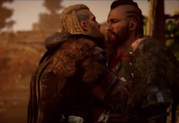 scena de sex homosexual, assassin's creed valhalla, assassin's creed