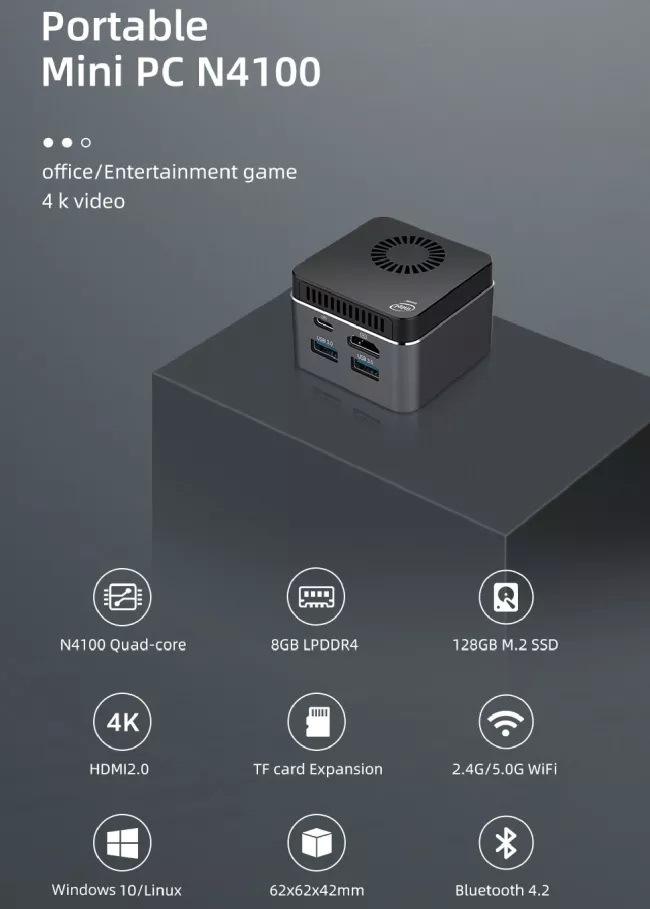 XCY Portable Mini PC N4100
